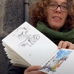 Sketchbook portrait: Nicola MaiRei in Clermont-Ferrand (EN) - Youtube Link