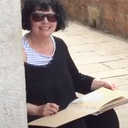 Sketchbook portrait: Pat Southern Pearce in Venice (EN) - Youtube Link