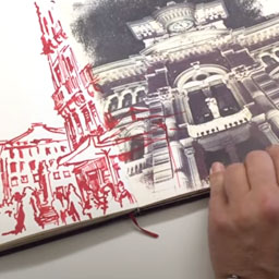 Sketchbook portrait: Daniel Nies in Trieste (EN) - Youtube Link